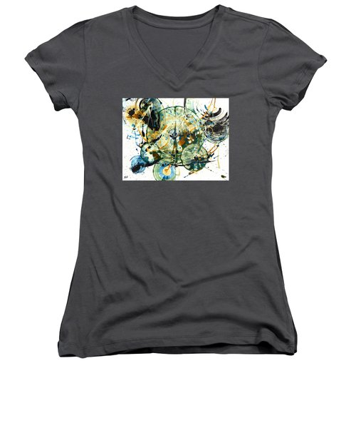 Spherical Joy Series 170.171.011011 Women's V-Neck T-Shirt (Junior Cut) by Kris Haas