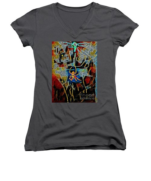 Spider Women's V-Neck T-Shirt