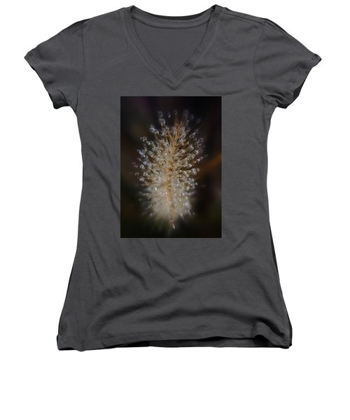 Spiked Droplets  Women's V-Neck (Athletic Fit)