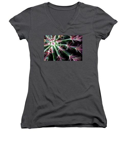 Spikes Women's V-Neck T-Shirt (Junior Cut) by Ana Mireles