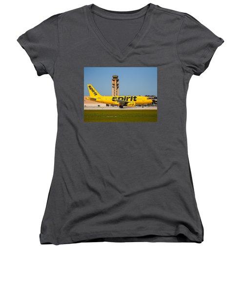 Spirit Airline Women's V-Neck