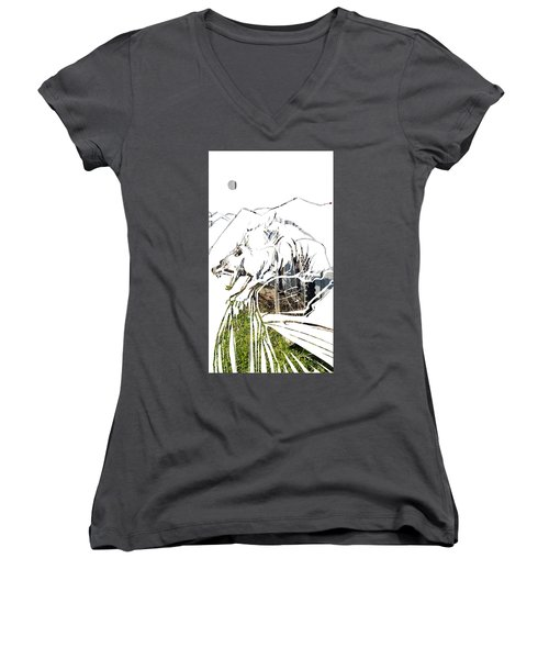 Spirit Animal . Wolverine Women's V-Neck