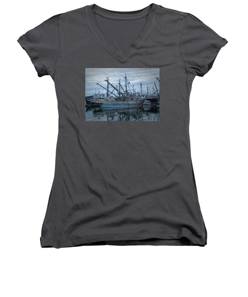 Women's V-Neck T-Shirt (Junior Cut) featuring the photograph Spirit At Rest by Randy Hall