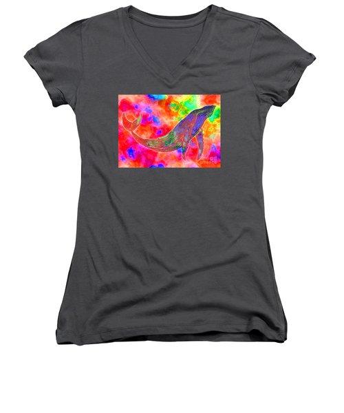 Spirit Whale Women's V-Neck T-Shirt