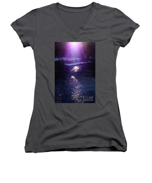 Spiritual Light Women's V-Neck T-Shirt