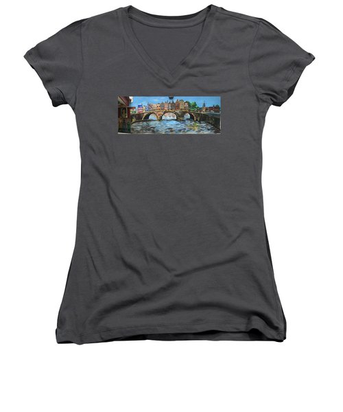 Spiritual Reflections Women's V-Neck T-Shirt (Junior Cut) by Belinda Low