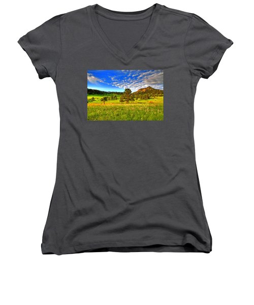 Spiritual Sky Women's V-Neck T-Shirt