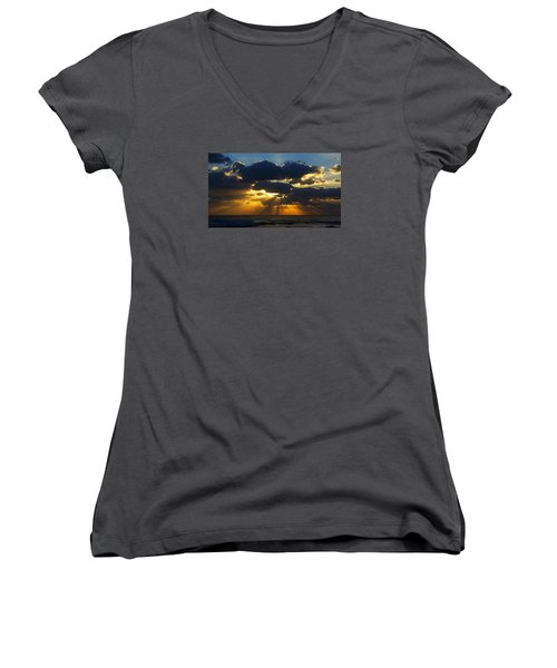 Spiritually Uplifting Sunrise Women's V-Neck (Athletic Fit)