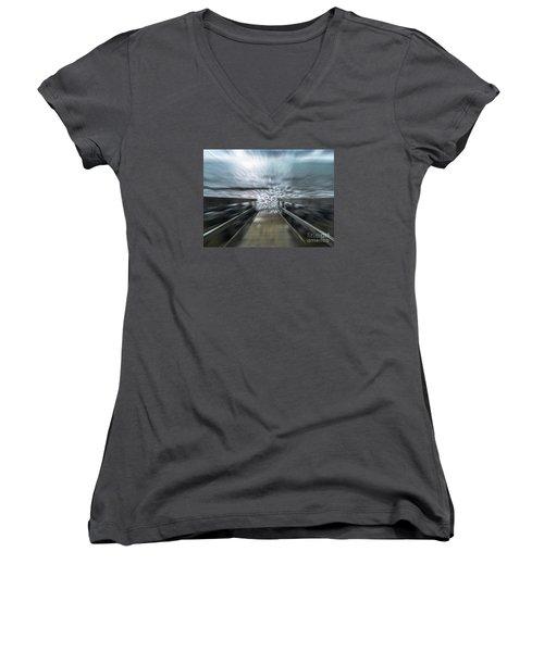 Splash Women's V-Neck T-Shirt (Junior Cut) by Karen Lewis