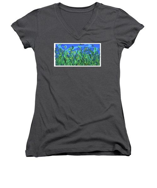 Splendor In The Grass Women's V-Neck (Athletic Fit)