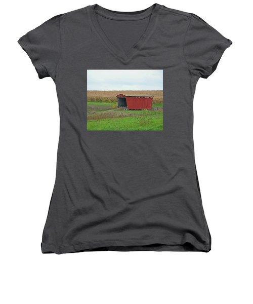 Splinter Covered Bridge Women's V-Neck T-Shirt