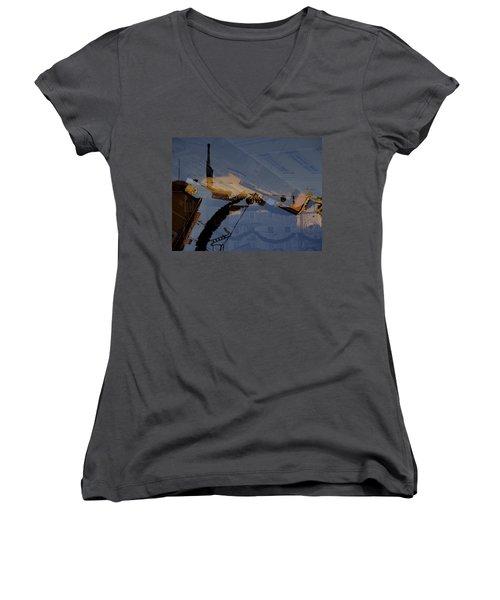 Split Roofs Women's V-Neck T-Shirt