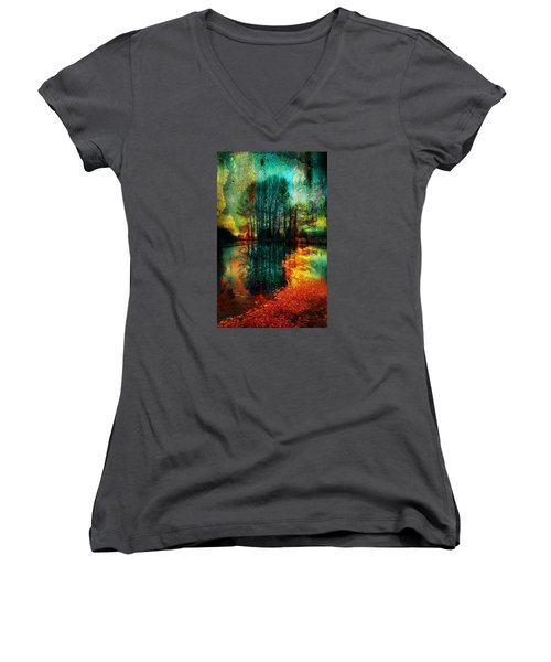 Spook Tree Women's V-Neck (Athletic Fit)
