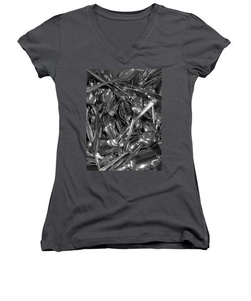 Spoons Women's V-Neck T-Shirt