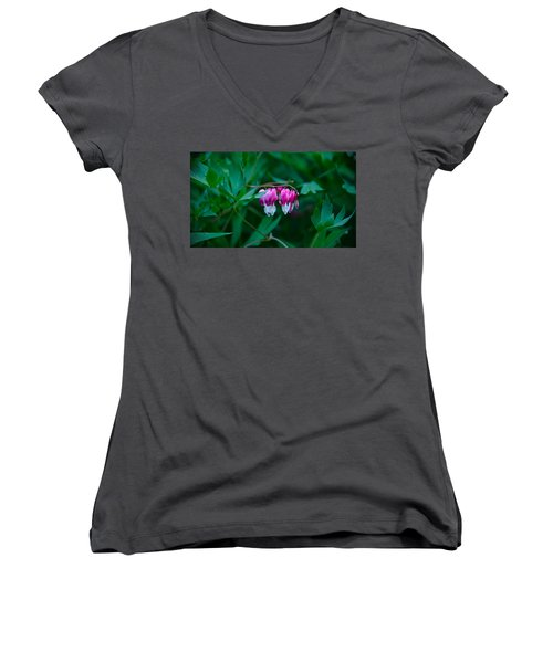 Women's V-Neck T-Shirt (Junior Cut) featuring the photograph Spring 2016 21 by Cendrine Marrouat