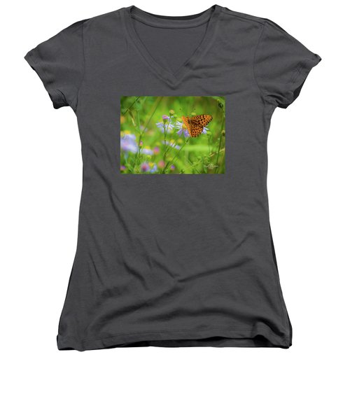 Spring Butterfly Women's V-Neck (Athletic Fit)