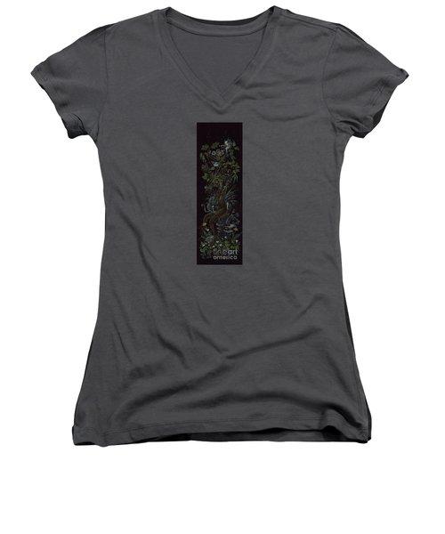 Spring Dryad Women's V-Neck T-Shirt (Junior Cut) by Dawn Fairies