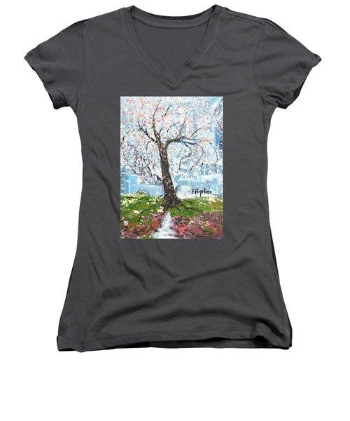 Spring Expression Women's V-Neck T-Shirt