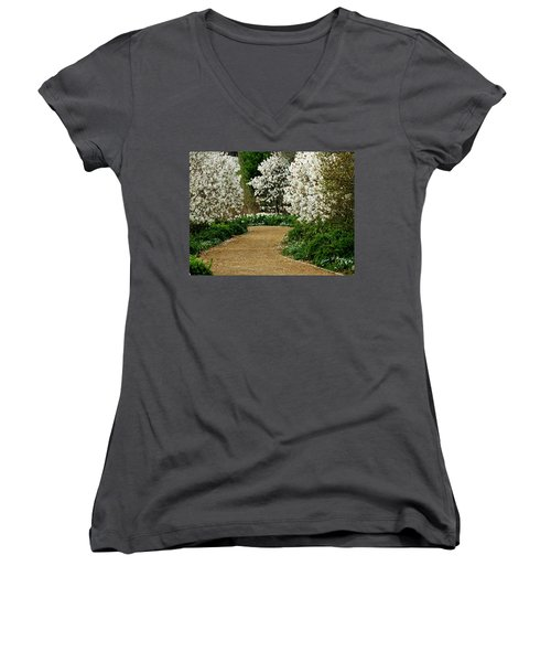 Spring Flowering Trees Wall Art Women's V-Neck T-Shirt