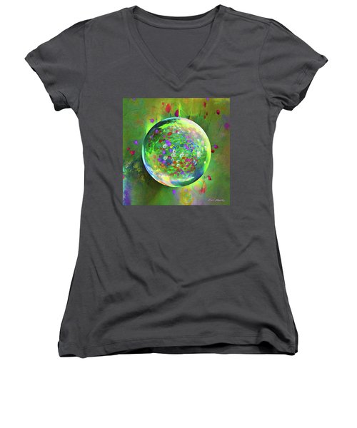 Spring Green Women's V-Neck