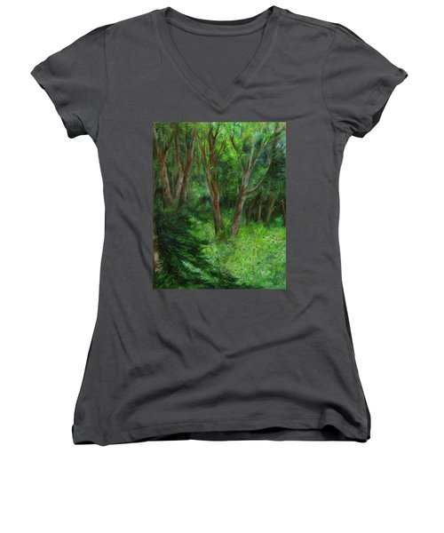 Spring In The Forest Women's V-Neck