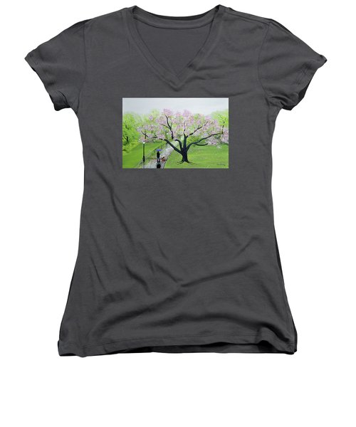 Spring In The Park Women's V-Neck (Athletic Fit)