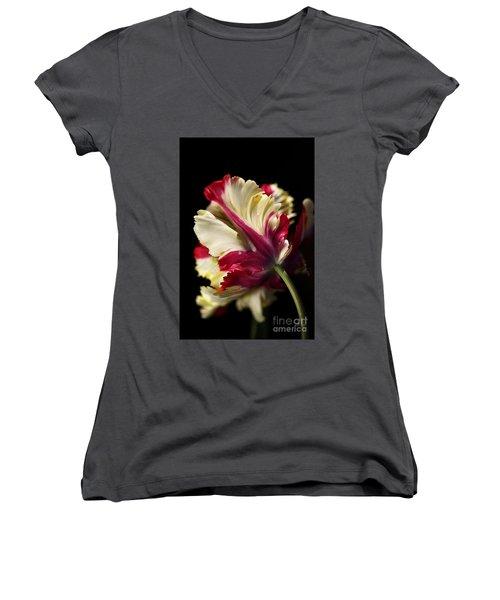 Spring Parrot Tulip Women's V-Neck
