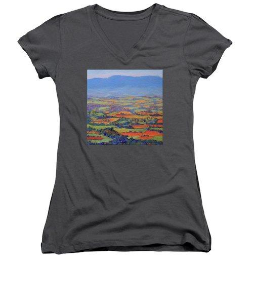 Spring Patchwork 1 Women's V-Neck T-Shirt