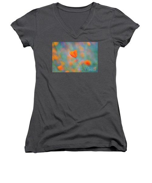 Spring Poppy Women's V-Neck T-Shirt