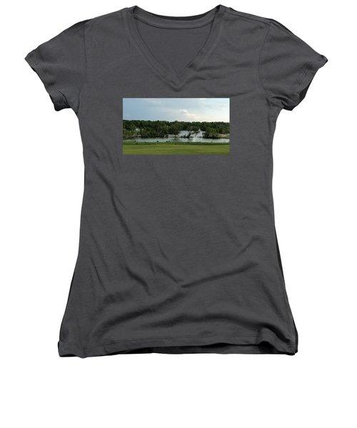 Spring Splendor Women's V-Neck T-Shirt (Junior Cut) by Sylvia Thornton