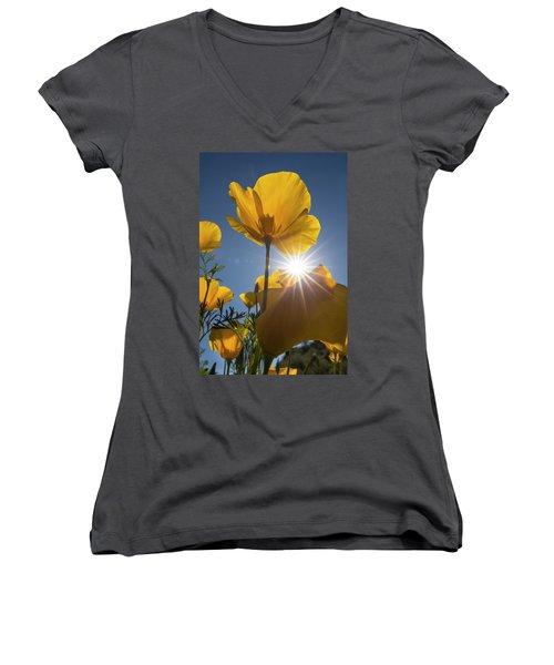 Spring Starburst Women's V-Neck T-Shirt