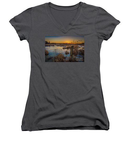 Spring Sunset Women's V-Neck