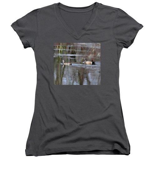 Spring Teal Women's V-Neck T-Shirt