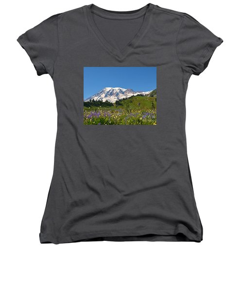 Springtime At Paradise 2 Women's V-Neck (Athletic Fit)