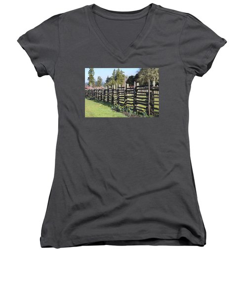 Springtime In Anderson Valley Women's V-Neck (Athletic Fit)