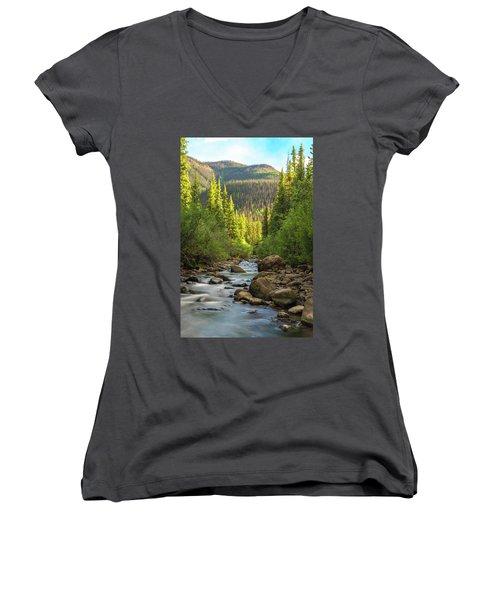 Squaw Creek, Colorado #2 Women's V-Neck