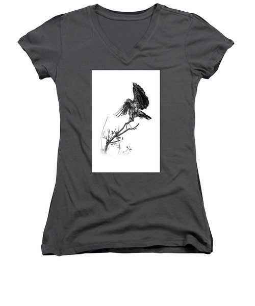 Squaw Creek Red-tail Women's V-Neck (Athletic Fit)