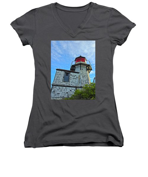 Squirrel Point Lighthouse Women's V-Neck