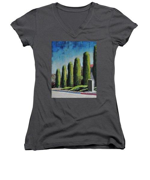 Srf Sunny Women's V-Neck T-Shirt (Junior Cut) by Richard Willson