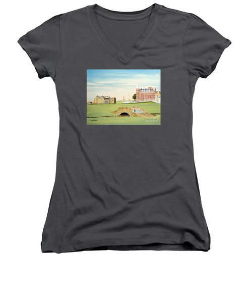 St Andrews Golf Course Scotland Classic View Women's V-Neck (Athletic Fit)