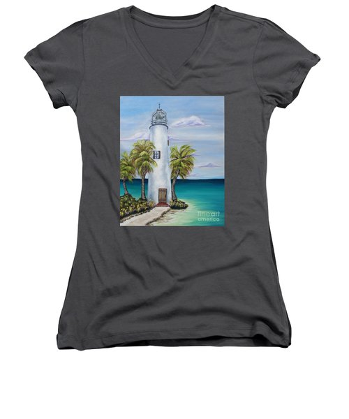 St. George Island Lighthouse Women's V-Neck T-Shirt