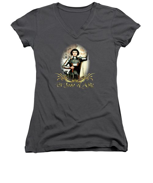 St Joan Of Arc - Jeanne D'arca Women's V-Neck