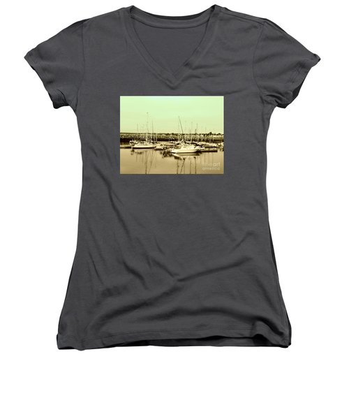 St. Lawrence Seaway Marina Women's V-Neck (Athletic Fit)