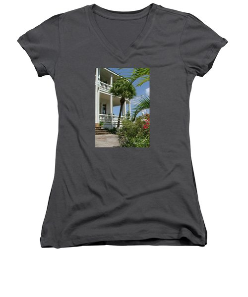 St Lucia Overlook Women's V-Neck (Athletic Fit)