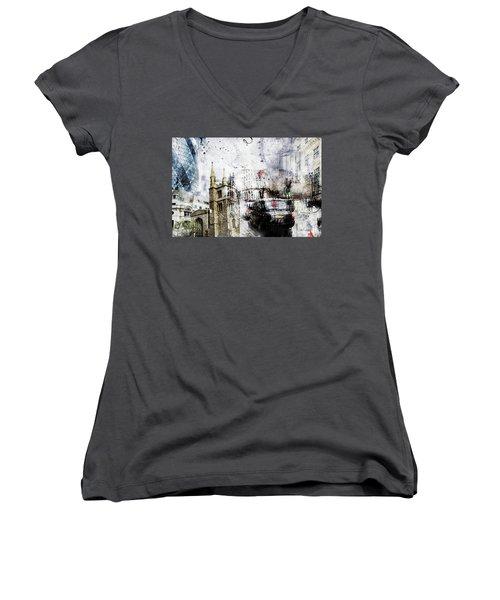 St Mary Axe Women's V-Neck T-Shirt