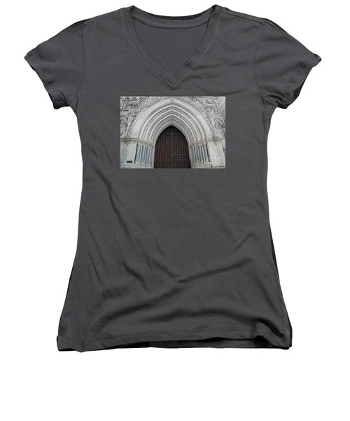 St. Mary Cathedral- Austin Texas Women's V-Neck (Athletic Fit)