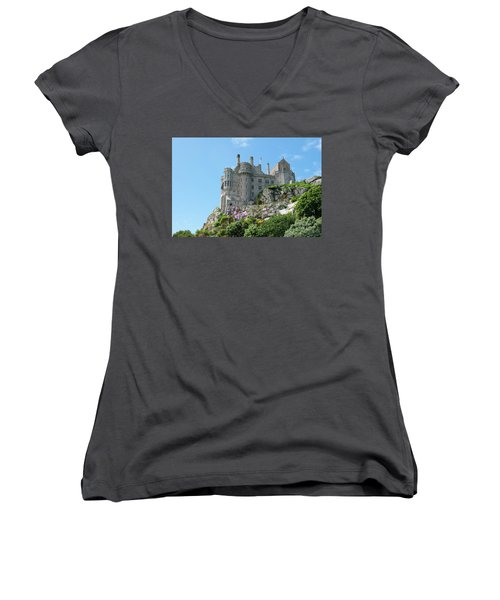 St Michael's Mount Castle Women's V-Neck T-Shirt