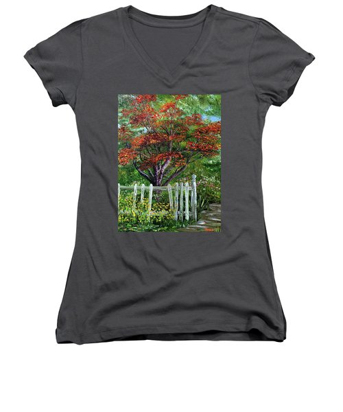 St. Michael's Tree Women's V-Neck T-Shirt