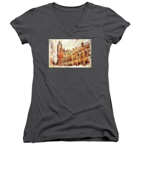 St Pancras Women's V-Neck T-Shirt
