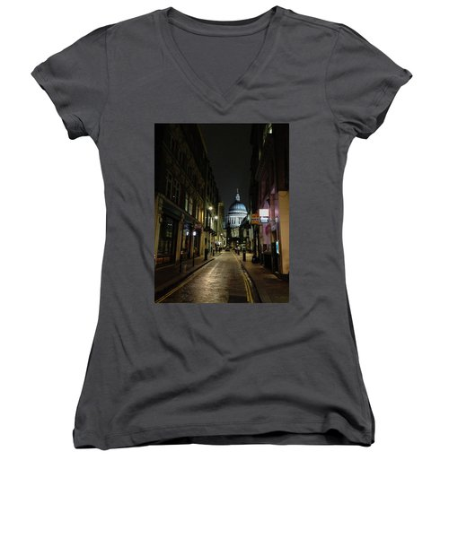St. Pauls By Night Women's V-Neck (Athletic Fit)